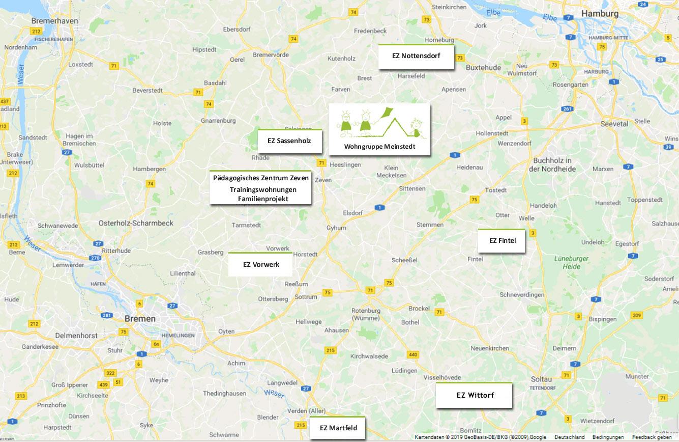 Standorte Kinderhof Meinstedt gGmbH